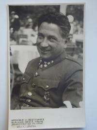 Tatínek jarmily Dvořákové před válkou v uniformě Střelecké Riegrovy jízdy