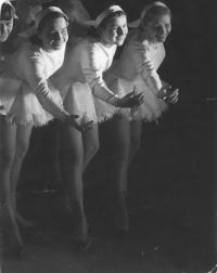 Ice revue - Mrs. Borecká on the right (1949/1950)