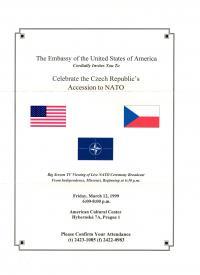 Pozvánka - oslava vstupu do NATO