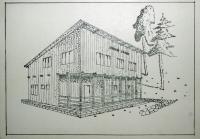 Neuskutečněná stavba skautského domu po válce