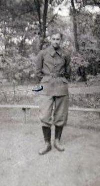 Čermák, po nástupu k protiletecké policii, v roce 1943