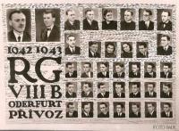 Maturitní tablo v roce 1943