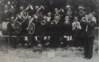 Band in Moldava, Josef Babák's father is the second from left side