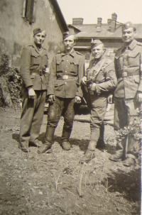 Josef Babák is the second from the left side
