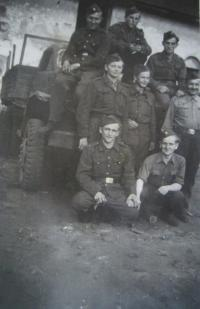 Josef Babák is the first from left in the bottom row