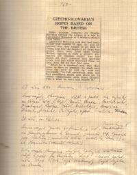 Stránka z deníku 10.9.40