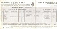 Úmrtní list Stanislava Zeinerta