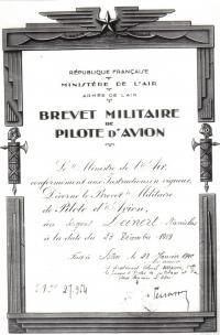 Vstup do francouzské armády -Zeinert