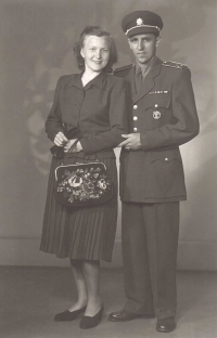 Jan Iljáš with his wife, possibly 1950s
