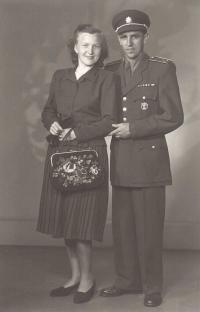 Jan Iljáš s manželkou, přibližně z roku 1950
