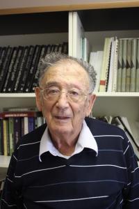 Jehuda Bauer při natáčení