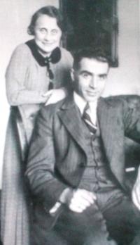 Rodiče Kateřina a Bedřich Stecklmacherovi. Prostějov