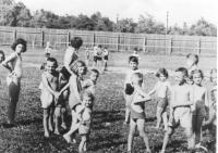 Cvičení v Makabi. Prostějov, 1940.