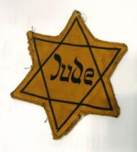 Davidova hvězda, kterou nosila Maud Stecklmacherová.