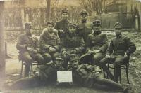 Dědeček Čermák za 1. světové války a v roce 1919 na Slovensku