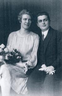 Marie Topinková a Otto Fischl 1926
