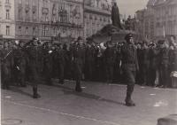 Military oath of the Prague garrison, Old Town Square in Prague, ca 1972