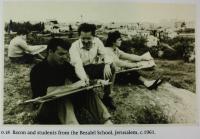 Jehuda Bacon se studenty cca. 1961
