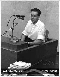 Jehuda Bacon jako svědek procesu s Adolfem Eichmannem