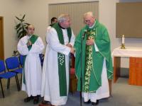 Priest František Pevný (on the right) celebrated his 85th birthday on 15th February 2006 in Brno - Lesná parish