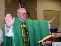 Priest František Pevný celebrated his 85th birthday on 15th February 2006 in Brno - Lesná parish