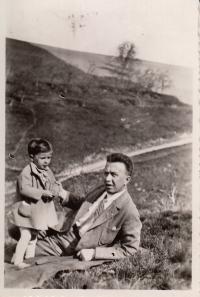 Dagmar Evaldová s otcem