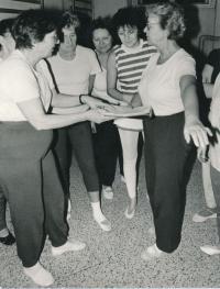 Dagmar Evaldová (vlevo) se Sokolkami