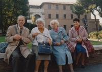 Miloš Lokajíček v Římě u příležitosti svatořečení Anežky České, 11. listopadu 1989