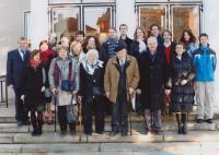 Miloš Lokajíček s rodinou, diamantová svatba, 26. 12. 2009
