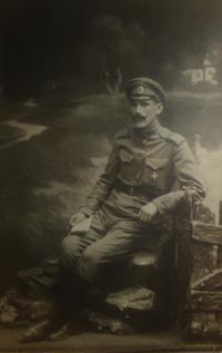 Tatínek Josef Vyletěl, účastník bitvy u Zborova (1917)