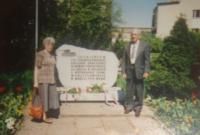 With his wife in the town Žory