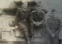 Photo made after the war, Josef Vyletěl on the left