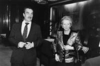 Karel Schwarzenberg with Margaret Thatcher