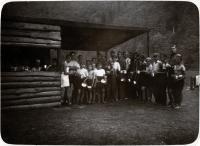 Fotografie z  tábora 1. oddílu Ostrava