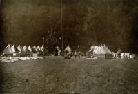 Fotografie z  tábora 1. oddílu Ostrava (nelze určit z jakého tábora č. 1)