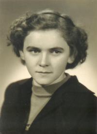 Ludmila Klukanová (tehdy ještě Šabatová) v roce 1952.