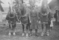 Otec Josef Jehlík st. s plemennými koňmi