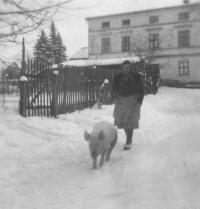 Matka Marie Jehlíková, Horní Fořt 1955