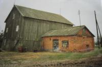 Mlýn který patřil v Černém Lese na Volyni rodině Olgy Čvančarové (Havričenkové). Foceno  v devadesátých letech