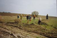 Současný stav českého hřbitova v Černém Lese na Volyni