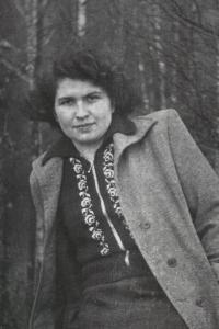 His wife Růžena Bartůňková (Havlová) in the 1950s