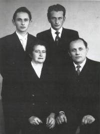 The Bartůněk family (parents Božena and Antonín and sons Ladislav and Jaroslav