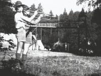 Camp of Boy Scouts from Skuteč in Javorek in 1970