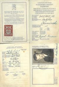 Československý pas, rok 1947