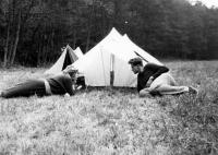 Scout summer camp in 1956