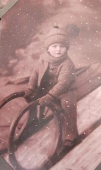 Jan Aust jako dítě