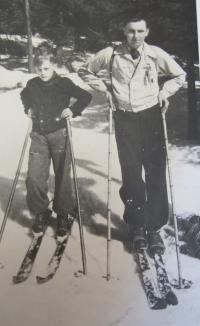 Jan Aust na lyžích