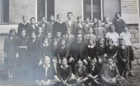 První třída čs. reálného gymnázia v Šumperku