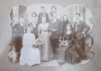 Svatba rodičů  Františka Austa a Marie Kašparové v Hrabenově1930