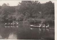 U starého  tábořiště pod Stádlecem v roce 1950